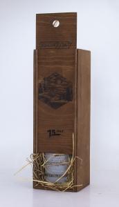 Подарочный набор. Деревянный футляр и вино с персонализацией. | Prowine