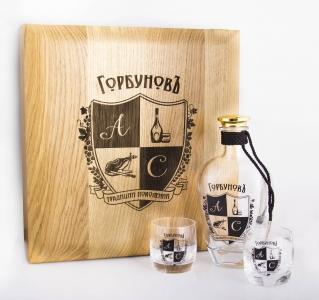 Сет со стопками в подарочной упаковке с персонализацией | Prowine