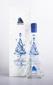 Новогодний подарочный сет. Водка Медофф в дизайнерском графине с персонализацией. | Prowine